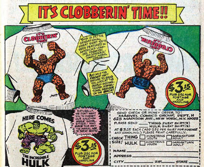 Marvel ad