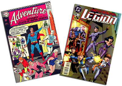 Adventure Comics #352 and Legion of Super-heroes v. 4  #78