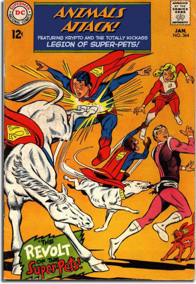 It's really ADVENTURE COMICS #364. But wouldn't YOU buy a comic where this happened issue after issue?