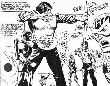 Avengers #105 panel