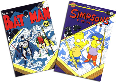 Batman #10 and Simpsons #13