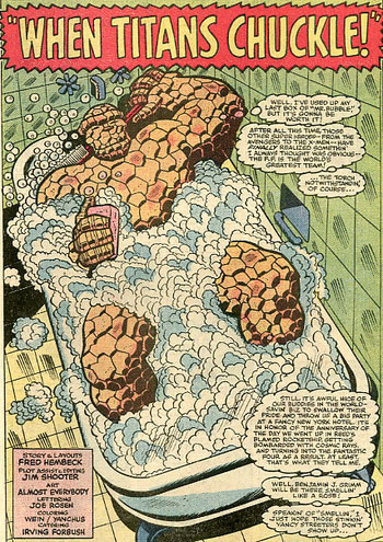 Fantastic Four Roast #1 splash page