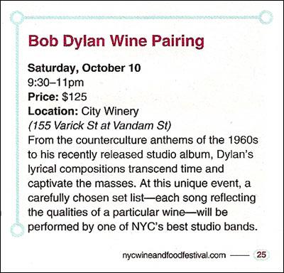 Bob Dylan Wine Pairing