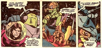 Battlestar Galactica #20 panel