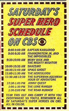 CBS '67 Saturday checklist