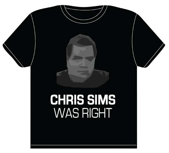 Chris Sims Was Right
