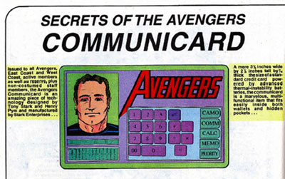 Avengers Communicard