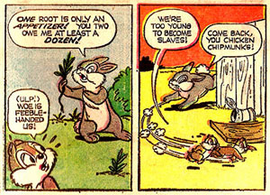 Thumper Meets Chip 'n' Dale