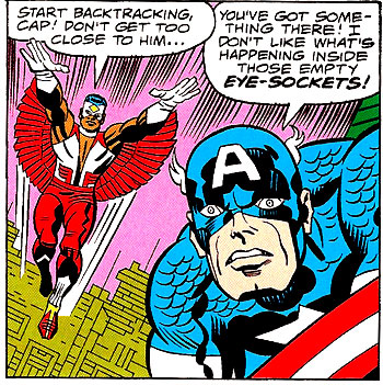 Captain America and the Falcon #205 panel
