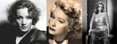 Marlene Dietrich, Miriam Hopkins, Jane Greer