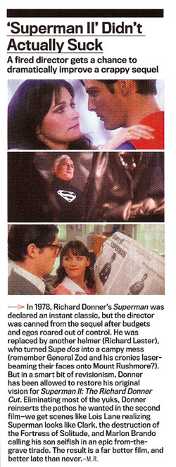 Superman II actually didn't suck--article from 11/06 GQ