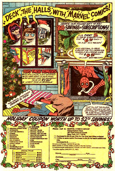Marvel subscription ad