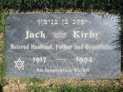 Jack Kirby's gravestone