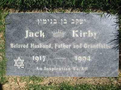 Jack Kirby's gravestone