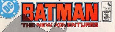 Batman #410 logo