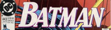 Batman #443 logo