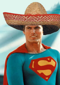 Christopher Reeve in a sombrero