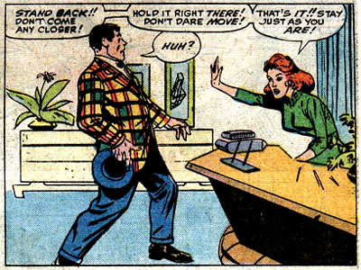 Tales of Suspense #58 panel