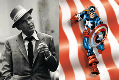 Frank Sinatra and Captain America