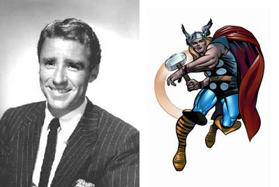Peter Lawford and Thor