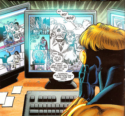Booster Gold #13 panel