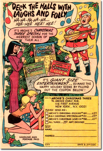 Archie Christmas subscription ad