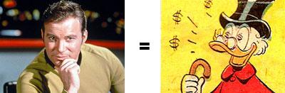 Scrooge Equals Kirk