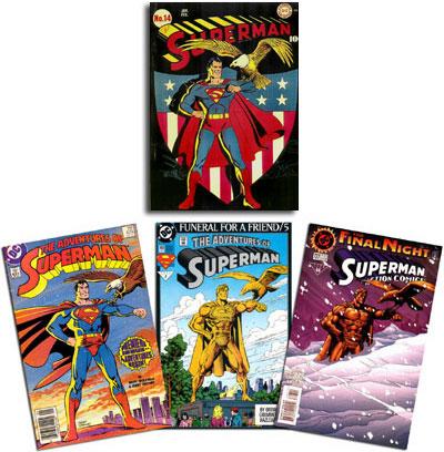 Superman #14/Adventures of Superman #424, Adventures of Superman #499, Action Comics #727