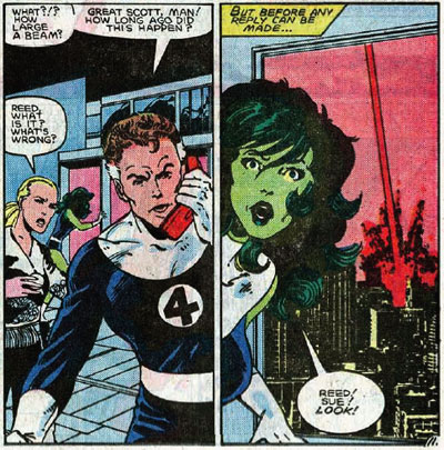 Fantastic Four #269 panel