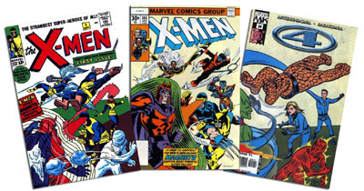 Uncanny X-Men #1 & 104, Marvel Knights 4 #24