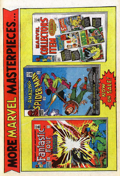 Marvel sideways house ad