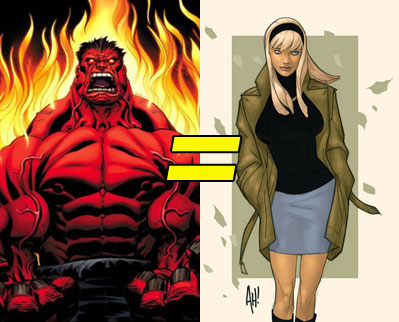 Red Hulk is Gwen Stacy