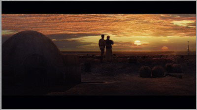 The end scene of Star Wars III