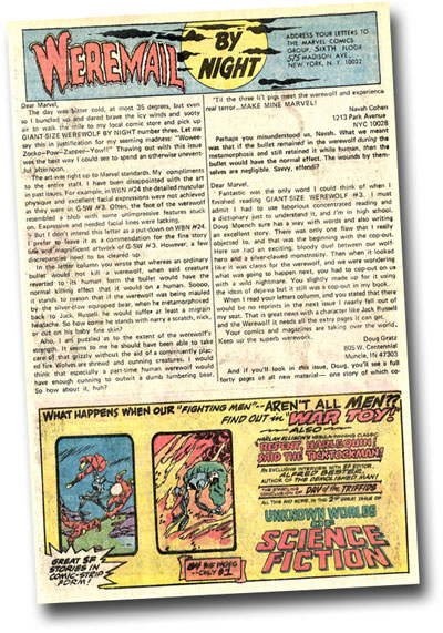 Marvel 1/3 page ad