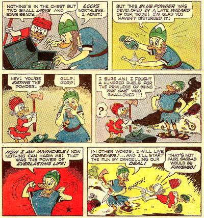 Top Comics Uncle Scrooge #2 panel