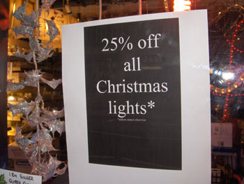 25% Boxing Day sales
