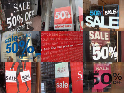 Half price Boxing Day sales