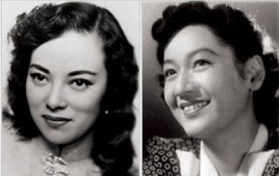 Shirley Yamaguchi and Setsuko Hara